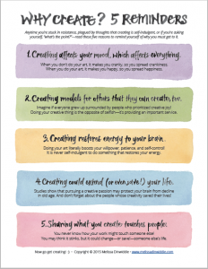 Why Create? 5 Reminders - Poster