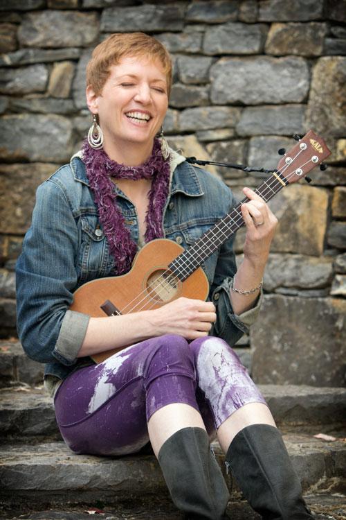 Melissa Dinwiddie loves her ukulele!