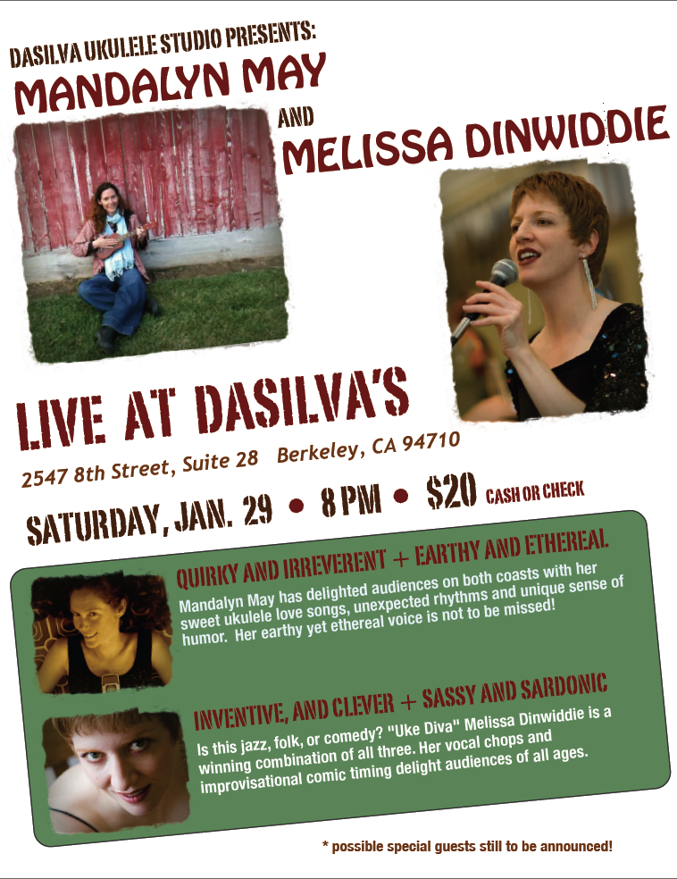 Image of flyer for DaSilva's ukulele gig