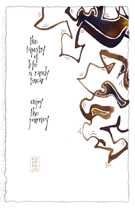 The Tapestry of Life - calligraphy art by Melissa Dinwiddie 2011