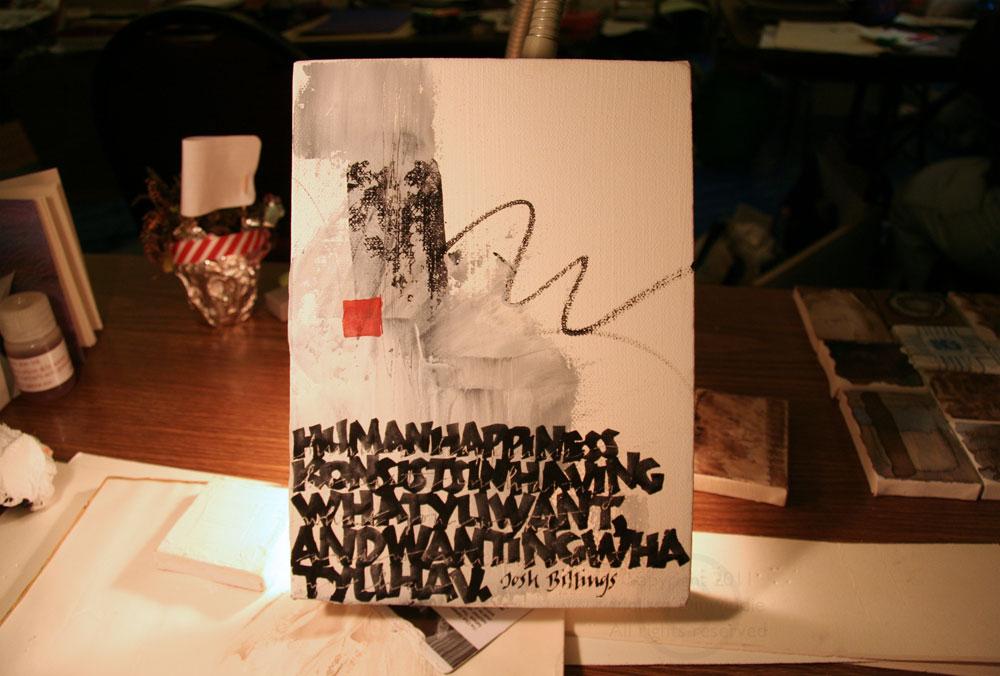 "6"" x 8"" canvas by Melissa Dinwiddie"