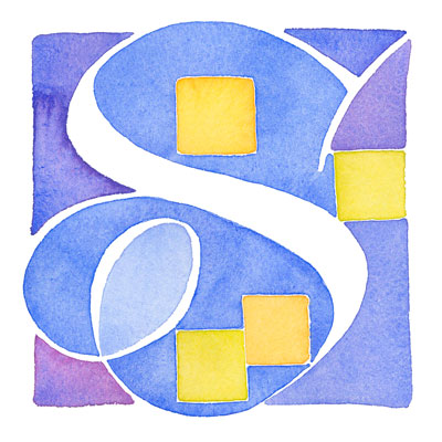 S - illuminated letter by Melissa Dinwiddie
