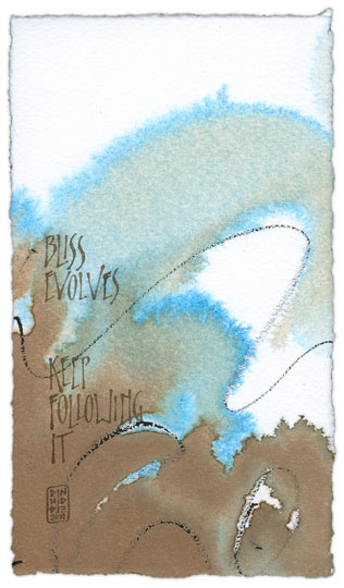 Bliss Evolves 6 - calligraphy art by Melissa Dinwiddie