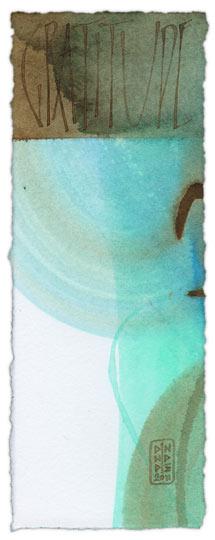 Gratitude - calligraphy art by Melissa Dinwiddie