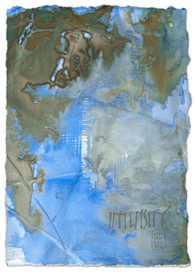 Intensity - calligraphy art by Melissa Dinwiddie