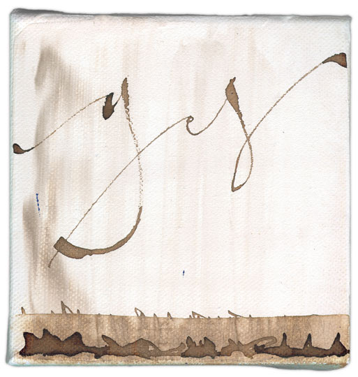 Yes 10 - calligraphy art on canvas by Melissa Dinwiddie