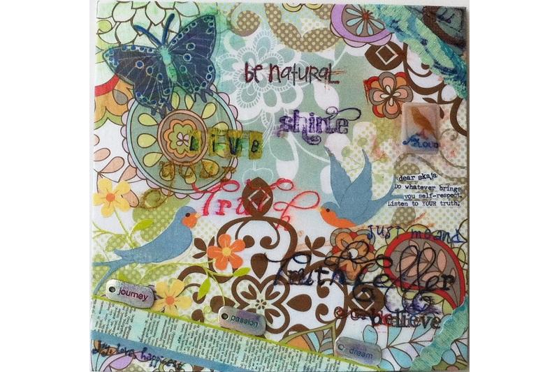 Mixed media art by Skaja Wills