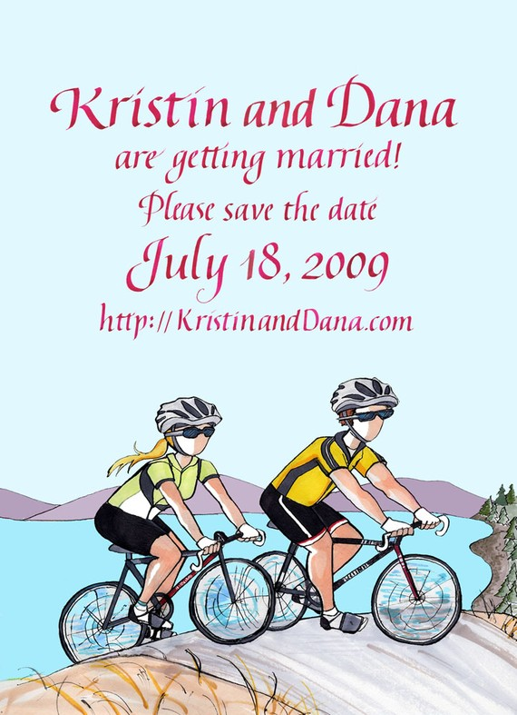 Kristin and Dana save the date card by Toby Simon