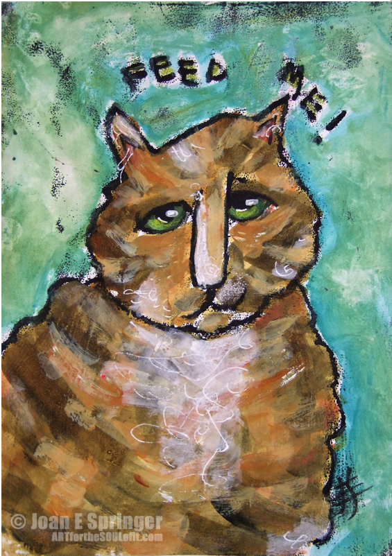 Feed Me! - painting by Joanie Springer