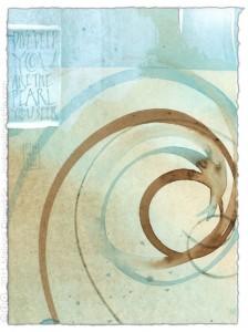 Dive Deep - calligraphy art by Melissa Dinwiddie