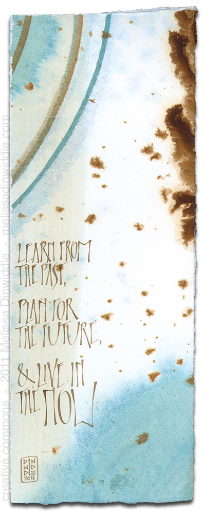 Learn From the Past - calligraphy art by Melissa Dinwiddie