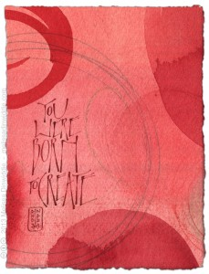 You Were Born to Create - calligraphy art by Melissa Dinwiddie