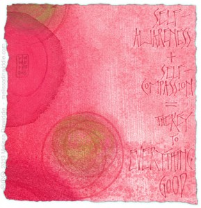Self-Awareness + Self-Compassion - calligraphy art by Melissa Dinwiddie