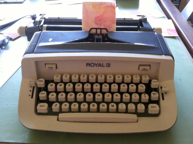 My Royal 890 typewriter!