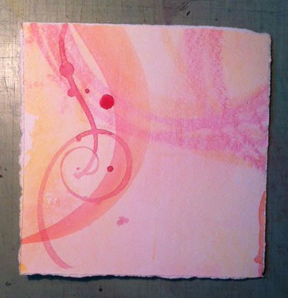 ArtSpark-in-progress with brush strokes and drips - 11/3/13