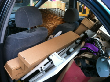 Carload of stuff bound for Goodwill