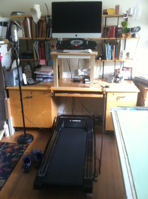 treadmill desk ikea hack