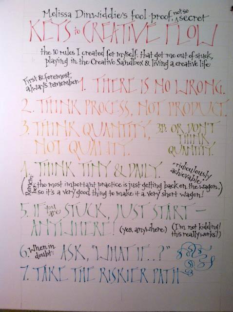 Keys to Creative Flow: draft 1