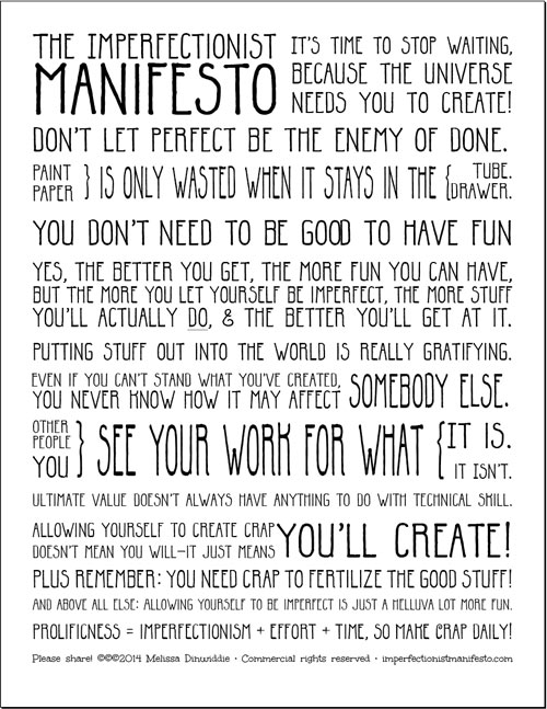 Imperfectionist Manifesto: template draft