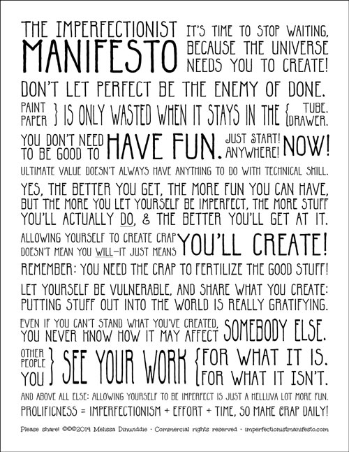 Imperfectionist Manifesto: template final
