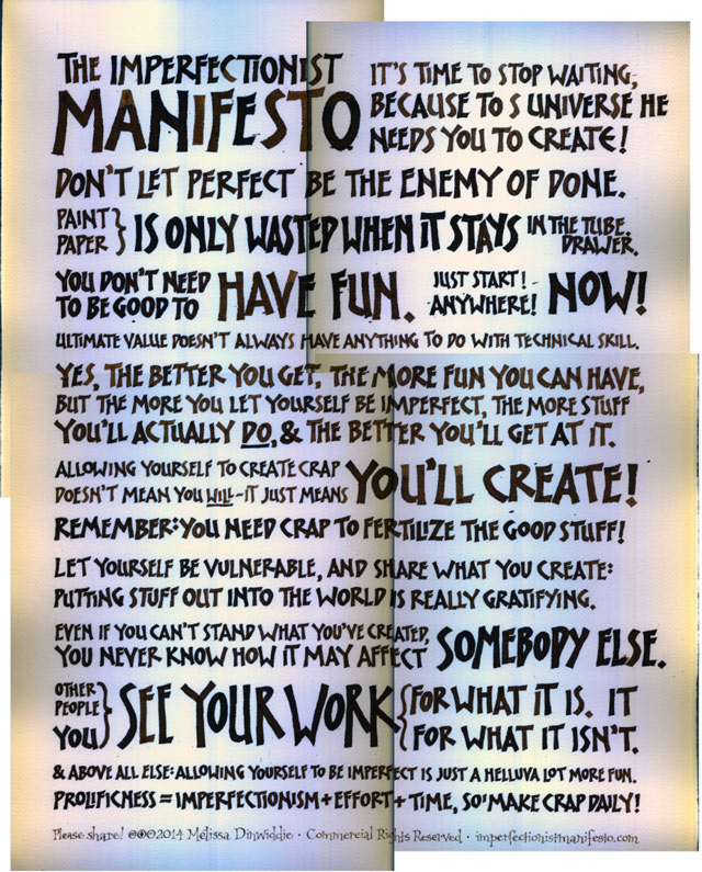 Imperfectionist Manifesto: raw scan