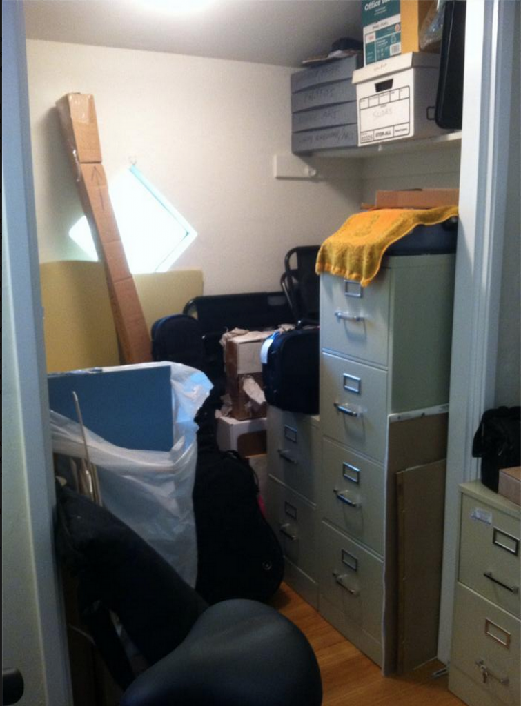 Closet of Doom - before