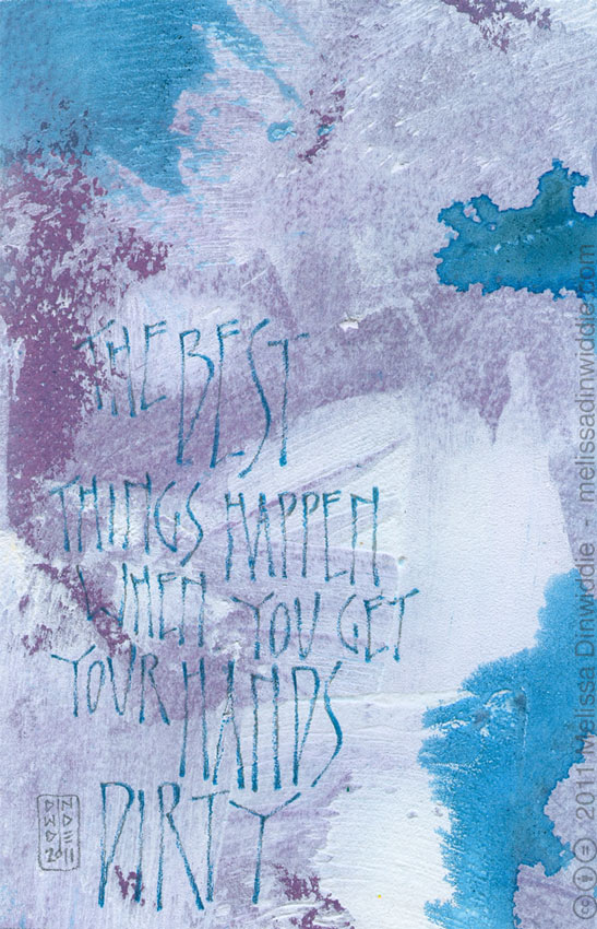 The Best Things Happen  - calligraphy art by Melissa Dinwiddie