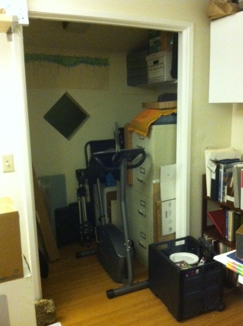 Studio closet, after (in process)