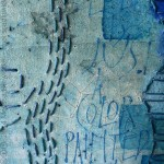 Detail: Blue Is Just A Color - mixed media painting on canvas, 8x8