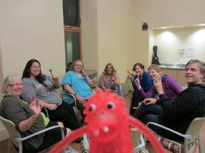 Gremlin photobomb on the first night of Create & Incubate Retreat 2014
