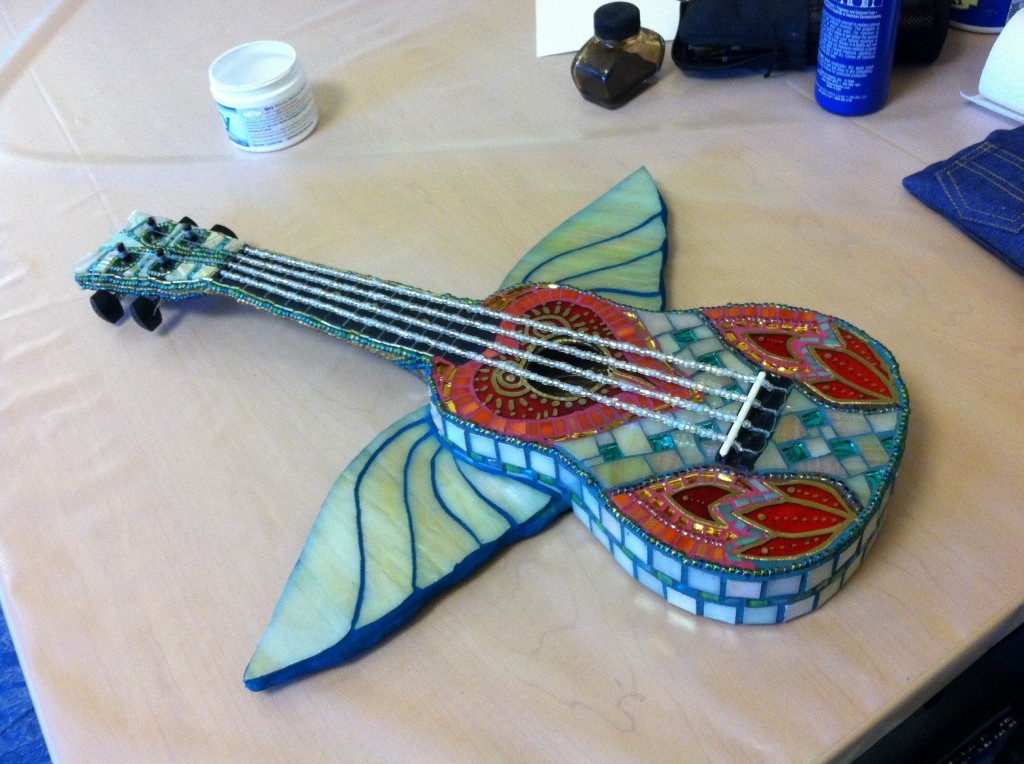 Uke Diva mosaic ukulele (with WINGS!) by Randina Casenza!!