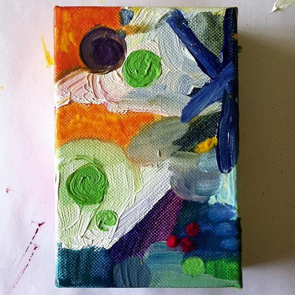 Work in progress, acrylic on canvas, 4x6