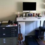 My new (still in-process!) Ikea hack standing desk / treadmill desk!!