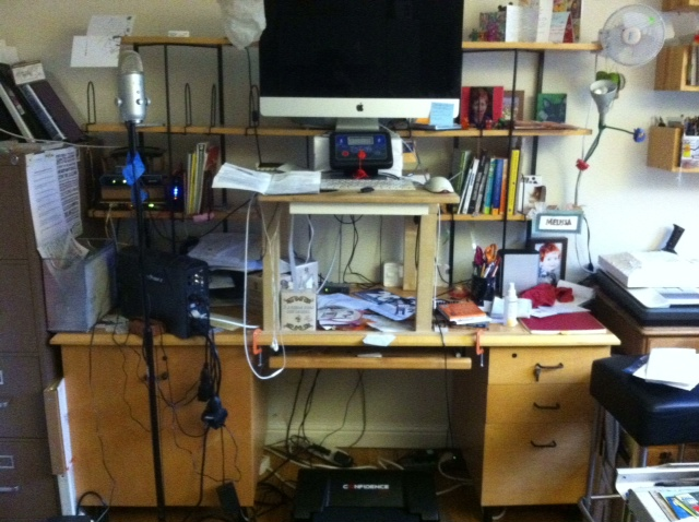 "The ""Wall of Doom"" in my studio, BEFORE the Great ClutterBust."