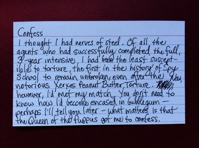 3x5: Confess