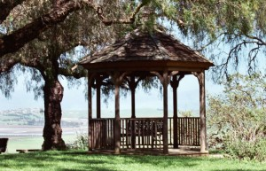 The gazebo at St. Francis Retreat - a lovely spot to sit and meditate in between creative sessions at Create & Incubate Retreat!