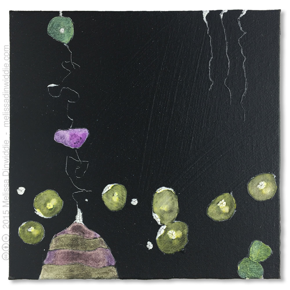 Dark Delight - mixed media abstract painting by Melissa Dinwiddie
