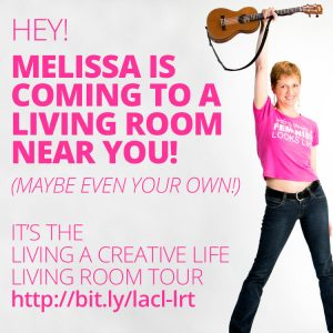 Melissa is coming to a living room near you! (Maybe even your own!) It's the Living A Creative Life Living Room Tour