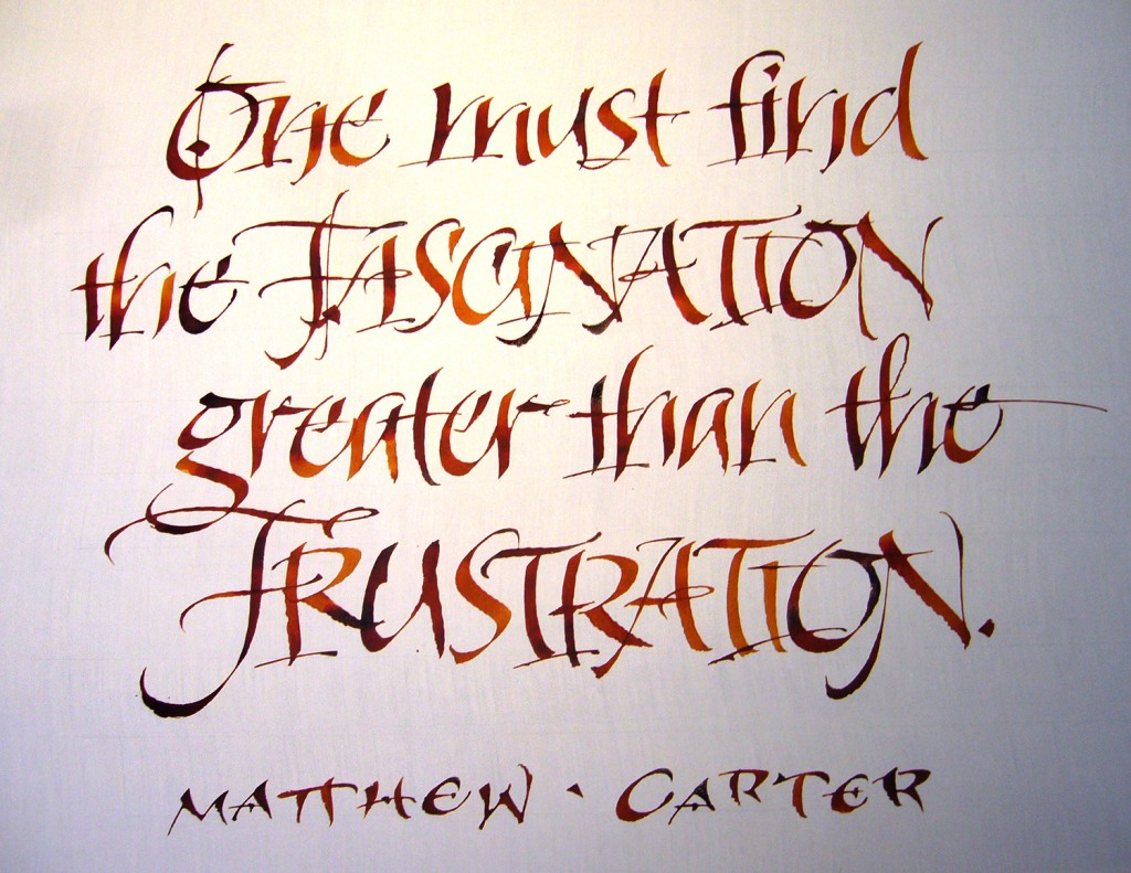 Carl Rohrs' calligraphy - image from David Ogden on Pinterest: https://www.pinterest.com/pin/464574517788410118/