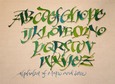 Another example of Carl Rohrs' lively, unique calligraphic style.