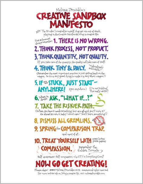 Creative Sandbox Manifesto Poster