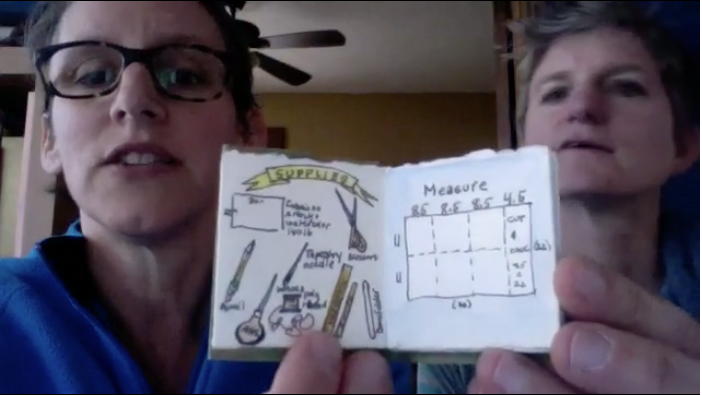 "Tiny Book Show ""How to Make a Sketchbook"" - with Amy Tingle & Maya Stein"