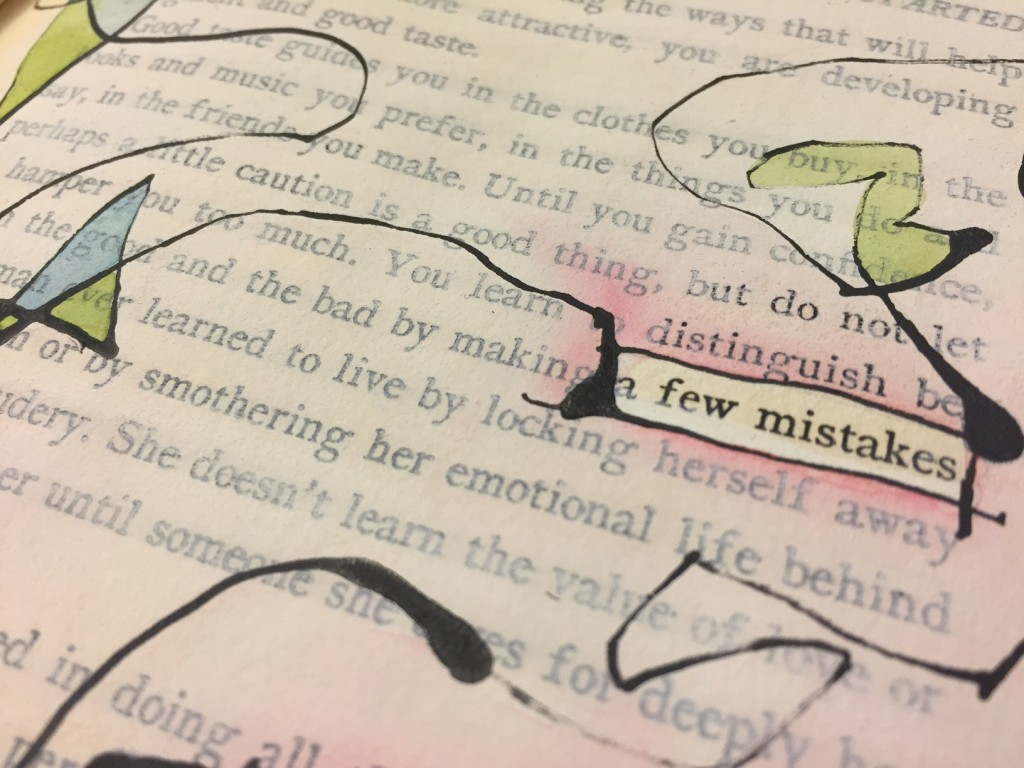 a few mistakes - altered book by Melissa Dinwiddie