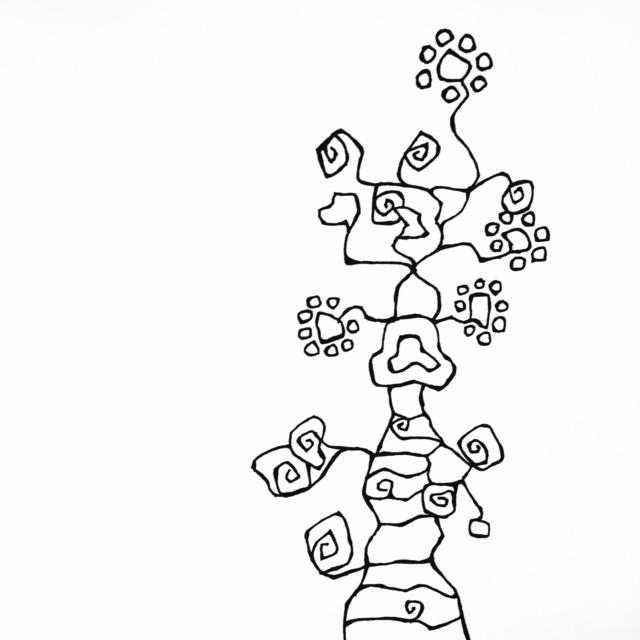 Imaginary tree doodle by Melissa Dinwiddie