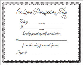 Creative Permission Slip