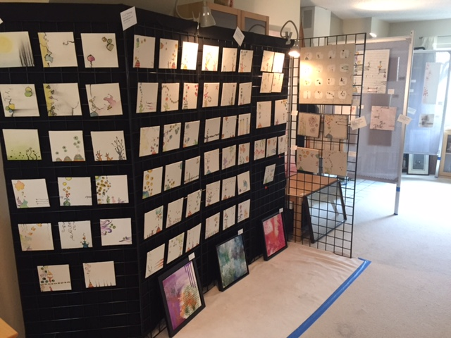 Open Studio: the wall of minis!