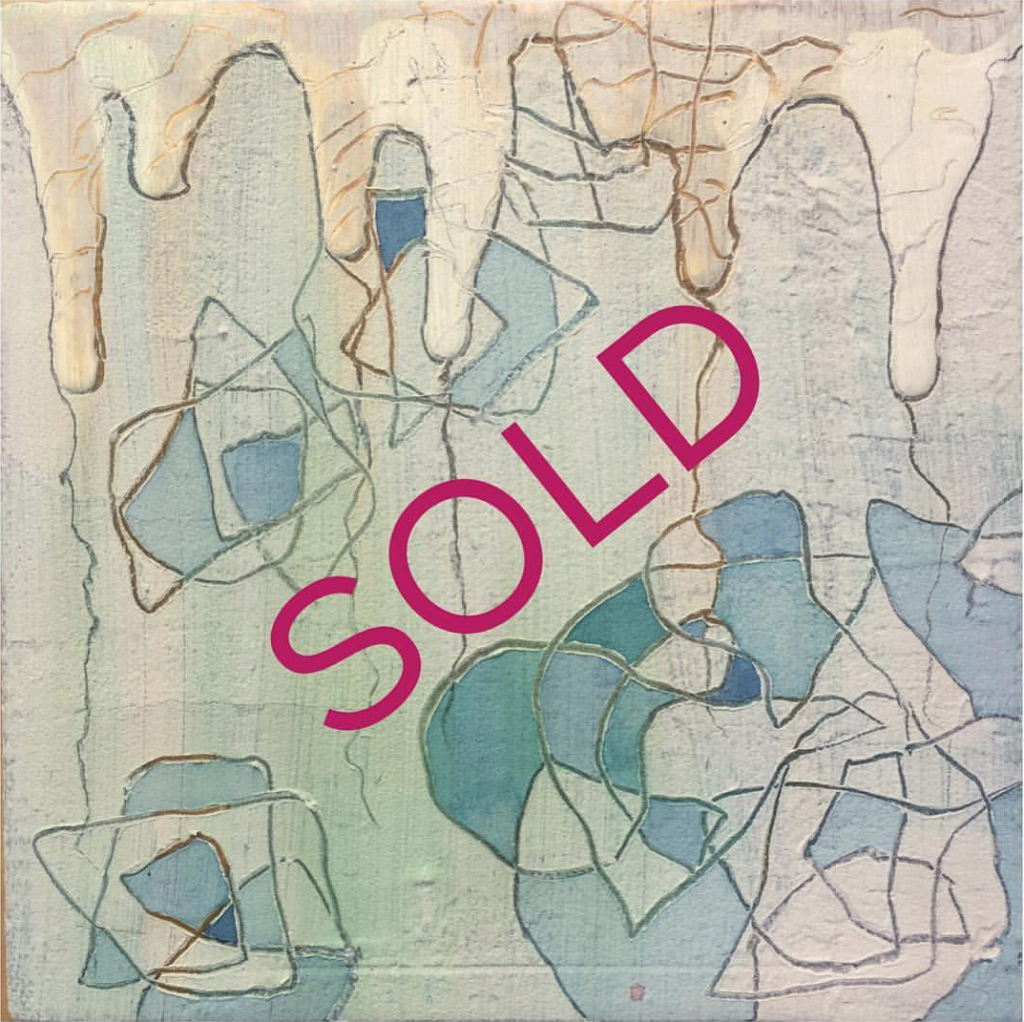 "SOLD! Untitled mixed media, 6""x6"" by Melissa Dinwiddie"
