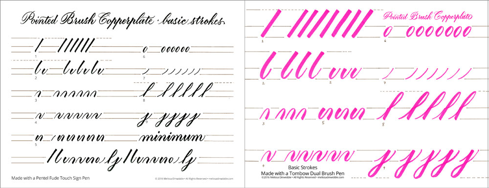 Brush Lettering Guides