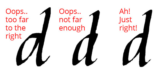 Calligraphy d