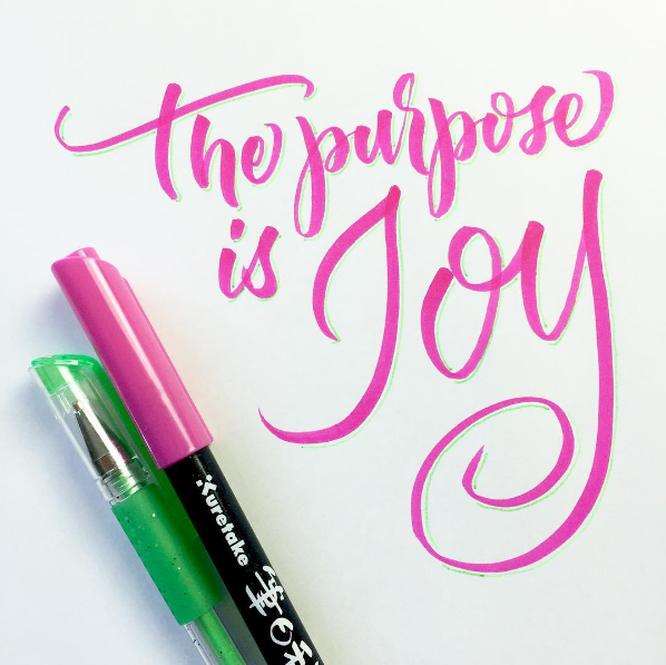 Calligraphy-The Purpose is Joy